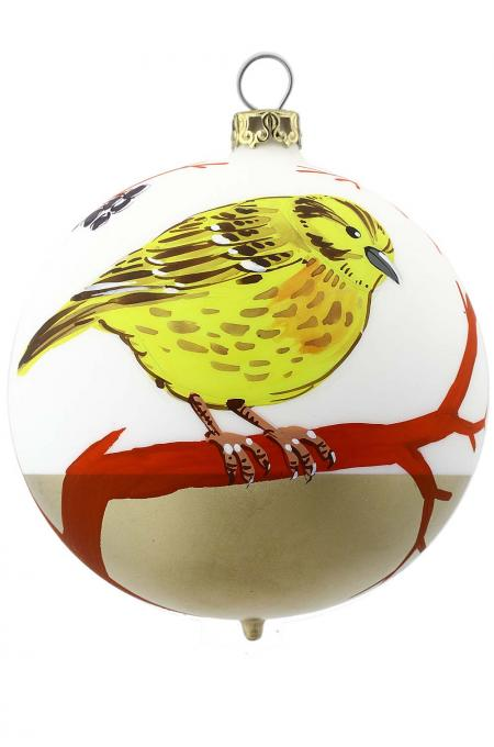 Christbaumkugel Vogel - Goldammer -